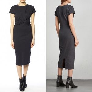 All Saints SS Midi Paloma Twist Dress
